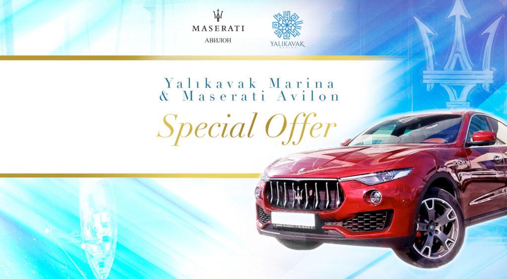 Yalıkavak Marina® and Maserati Avilon Special Offer