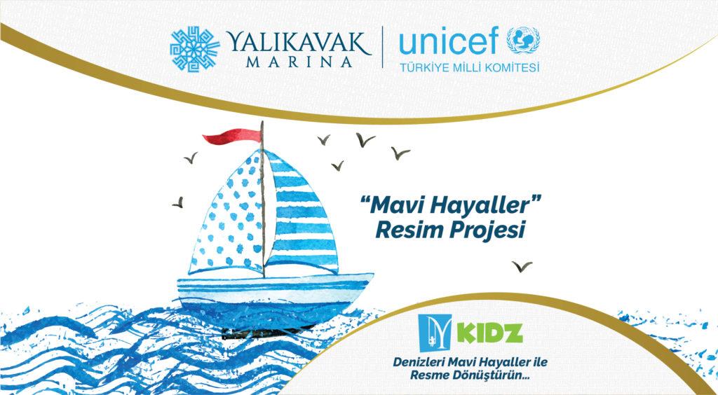 """Denizleri Mavi Hayaller ile Resme Dönüştürün… Çocuklar 23 Nisan'ın 100. Yıldönümünde """"Mavi Hayaller """"Resim projesi ile mutluluğu paylaşıyor!"""