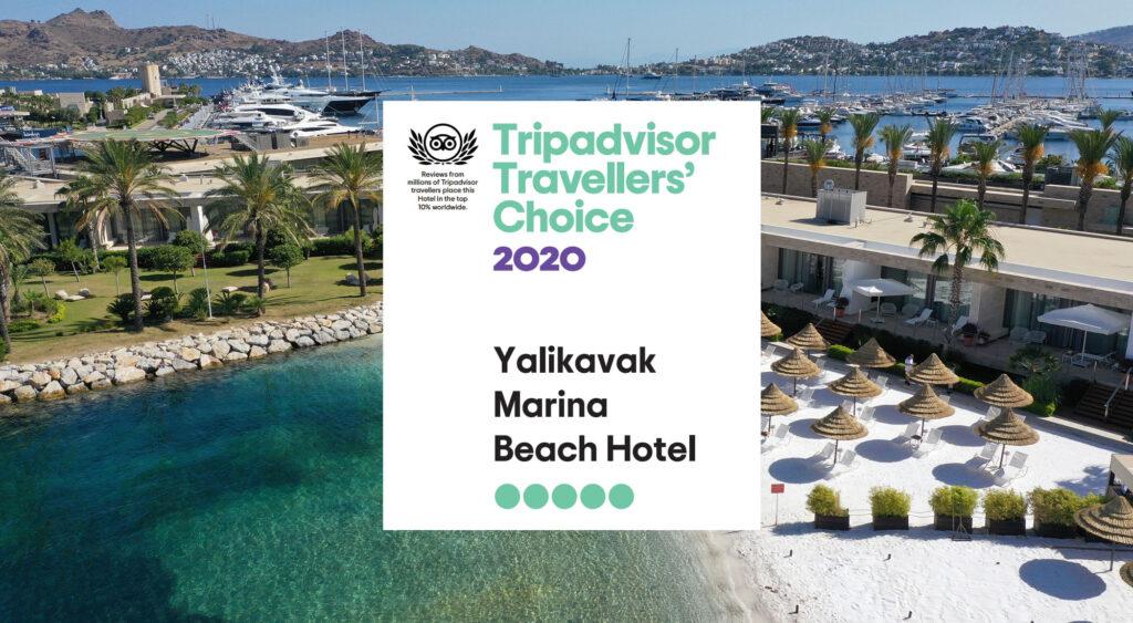 Yalıkavak Marina Beach Hotel TripAdvisor'da Bodrum'un en iyi 10 oteli arasında yer aldı!